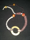 White and Brown Hemp with Beads