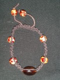 Brown Hemp with Beads - Dark