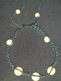 Black Hemp with Yellow Beads