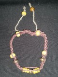 Brown Hemp with Metallic and Wood Beads